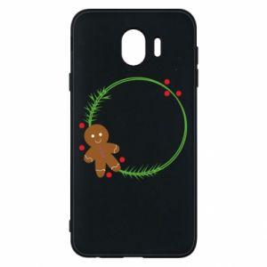Phone case for Samsung J4 Gingerbread Man Wreath