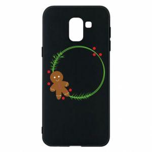 Phone case for Samsung J6 Gingerbread Man Wreath