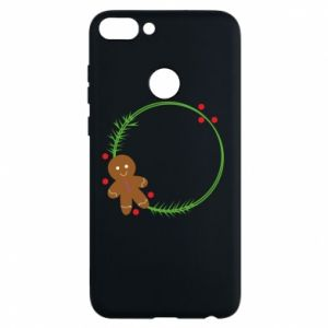 Phone case for Huawei P Smart Gingerbread Man Wreath