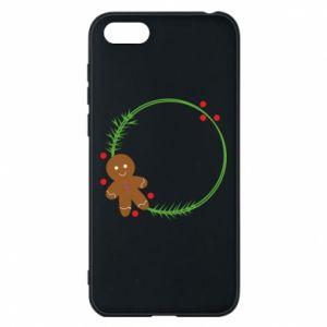 Phone case for Huawei Y5 2018 Gingerbread Man Wreath