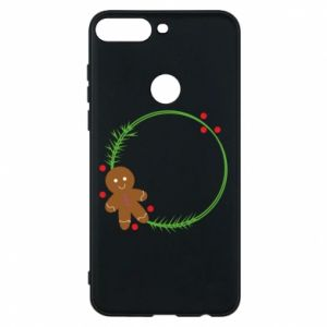 Phone case for Huawei Y7 Prime 2018 Gingerbread Man Wreath