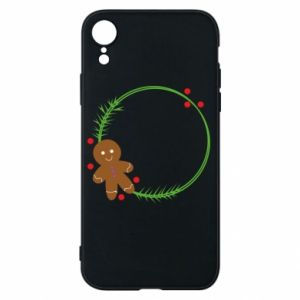Phone case for iPhone XR Gingerbread Man Wreath
