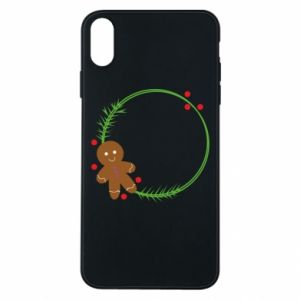 Phone case for iPhone Xs Max Gingerbread Man Wreath