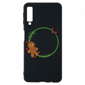 Phone case for Samsung A7 2018 Gingerbread Man Wreath