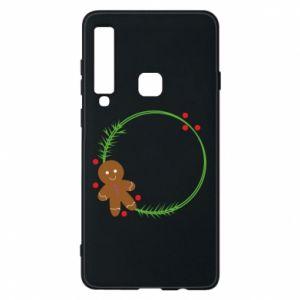 Phone case for Samsung A9 2018 Gingerbread Man Wreath