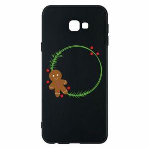 Phone case for Samsung J4 Plus 2018 Gingerbread Man Wreath