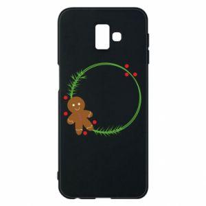 Phone case for Samsung J6 Plus 2018 Gingerbread Man Wreath