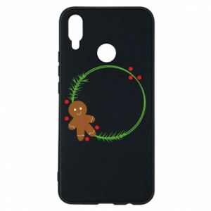 Phone case for Huawei P Smart Plus Gingerbread Man Wreath