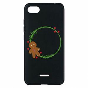 Phone case for Xiaomi Redmi 6A Gingerbread Man Wreath