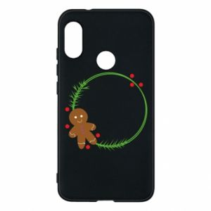 Phone case for Mi A2 Lite Gingerbread Man Wreath