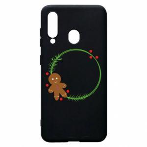 Phone case for Samsung A60 Gingerbread Man Wreath