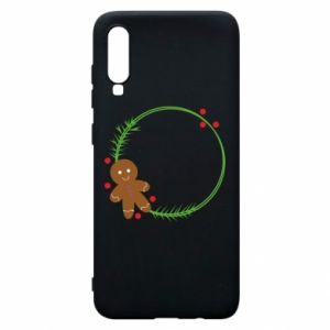Phone case for Samsung A70 Gingerbread Man Wreath