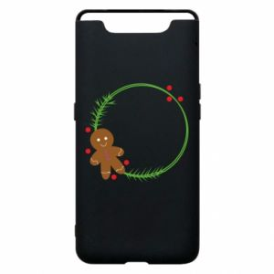 Phone case for Samsung A80 Gingerbread Man Wreath
