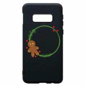 Phone case for Samsung S10e Gingerbread Man Wreath