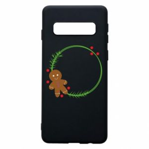 Phone case for Samsung S10 Gingerbread Man Wreath