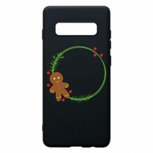 Phone case for Samsung S10+ Gingerbread Man Wreath