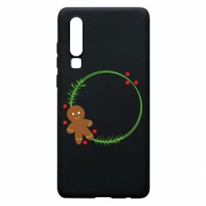 Phone case for Huawei P30 Gingerbread Man Wreath