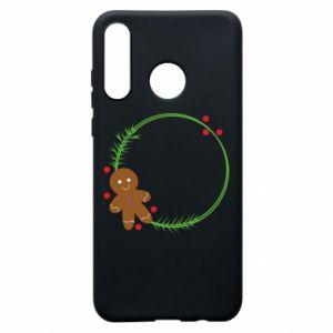 Phone case for Huawei P30 Lite Gingerbread Man Wreath