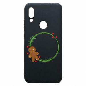 Phone case for Xiaomi Redmi 7 Gingerbread Man Wreath