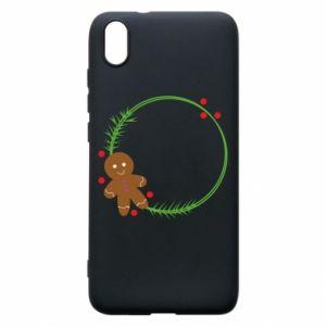 Phone case for Xiaomi Redmi 7A Gingerbread Man Wreath