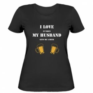 Damska koszulka Wife and beer