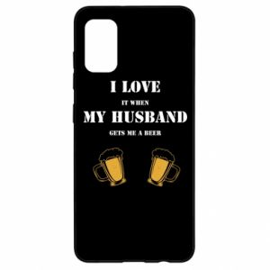 Samsung A41 Case Wife and beer