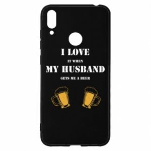 Huawei Y7 2019 Case Wife and beer