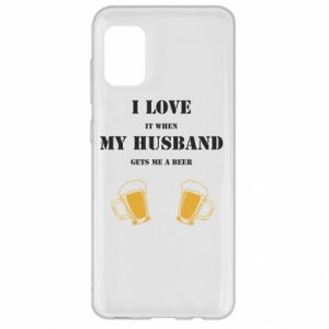 Samsung A31 Case Wife and beer