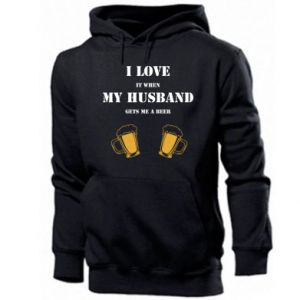 Men's hoodie Wife and beer