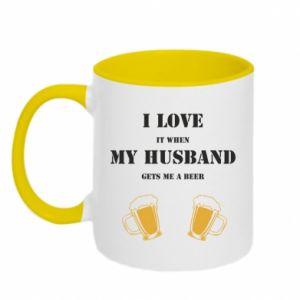 Kubek dwukolorowy Wife and beer - PrintSalon