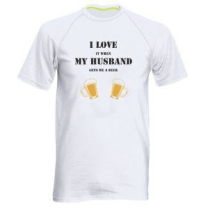 Men's sports t-shirt Wife and beer