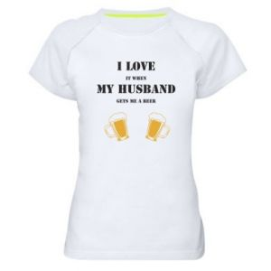 Women's sports t-shirt Wife and beer