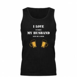 Męska koszulka Wife and beer - PrintSalon