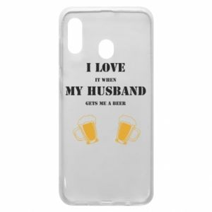 Samsung A20 Case Wife and beer