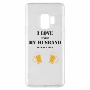 Samsung S9 Case Wife and beer
