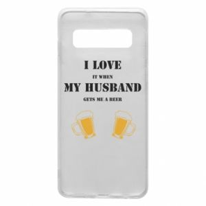 Samsung S10 Case Wife and beer