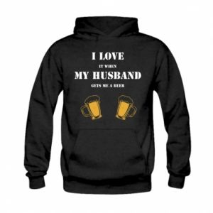 Kid's hoodie Wife and beer