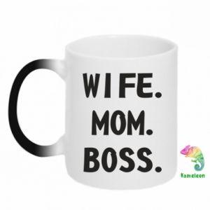Kubek-kameleon Wife mom boss