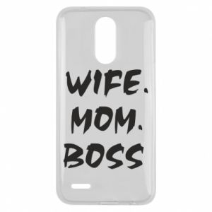 Etui na Lg K10 2017 Wife. Mom. Boss.