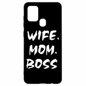 Etui na Samsung A21s Wife. Mom. Boss.