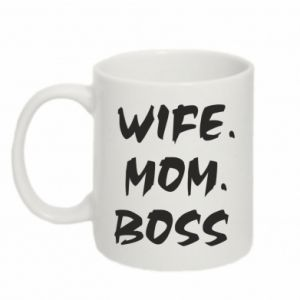 Kubek 330ml Wife. Mom. Boss.