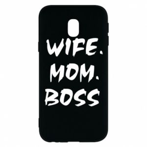 Etui na Samsung J3 2017 Wife. Mom. Boss.