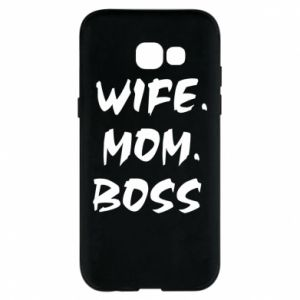 Etui na Samsung A5 2017 Wife. Mom. Boss.