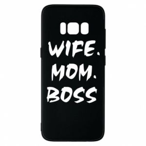 Etui na Samsung S8 Wife. Mom. Boss.