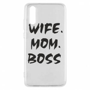Etui na Huawei P20 Wife. Mom. Boss.