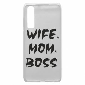 Etui na Huawei P30 Wife. Mom. Boss.