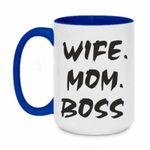Kubek dwukolorowy 450ml Wife. Mom. Boss.