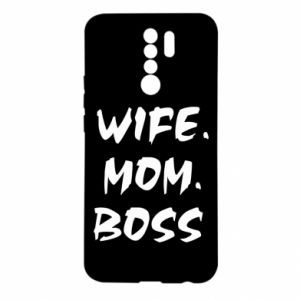 Etui na Xiaomi Redmi 9 Wife. Mom. Boss.