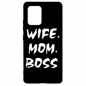 Etui na Samsung S10 Lite Wife. Mom. Boss.