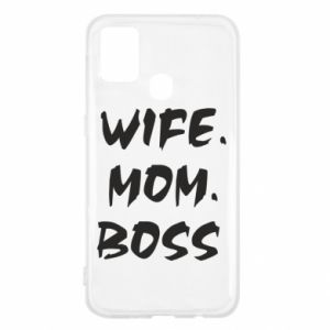 Etui na Samsung M31 Wife. Mom. Boss.
